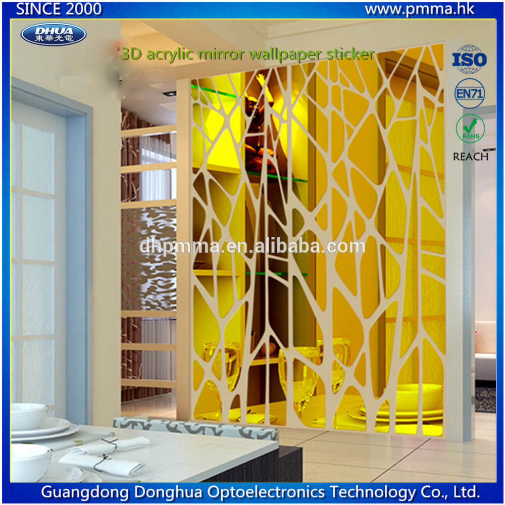 Customized 3D Acrylic Mirror Wall Sticker for Decoration