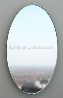 Oval Shatterproof Acrylic Mirror, Decorative Mirror Sticker for Bathroom