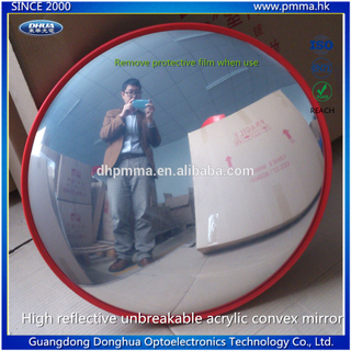 High reflective unbreakable acrylic mirror face convex mirror indoor