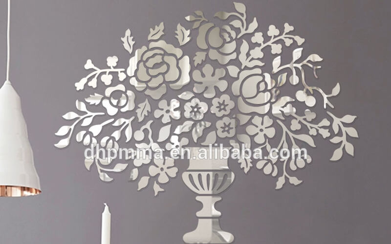 Much like glass, making a three-dimensional acrylic mirror wall sticker is super beautifu