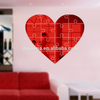 Home Decors Heart Shaped Acrylic Wall Mirror Stickers