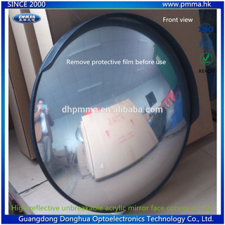 unbreakable high reflective acrylic convex mirror for traffic safety