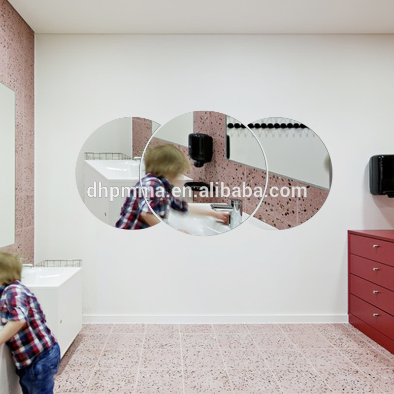 Wall Acrylic Mirror Decoration with Adhesive, Bathroom Vanity Mirror in PMMA