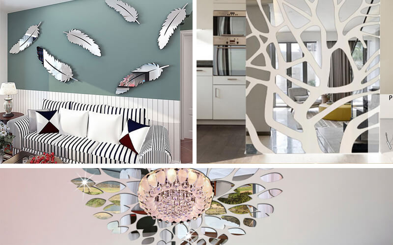 Acrylic mirror wall sticker is more and more popular